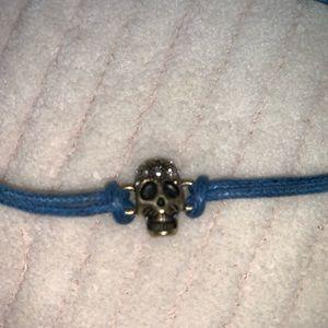 Rock & Republic Jewelry - 2/$15 adjustable blue cord gold skull bracelet